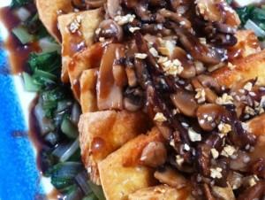 Crispy Beancurd With Garlic Mushroom