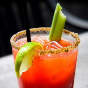 Replacing  tomato juice with carrot juice to create a surprising take on the Bloody Mary cocktail. If you like your drinks spicy, consider adding a few dashes of your favorite hot sauce.